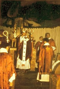 Bishop Jean-Nectaire celebrating Western Rite